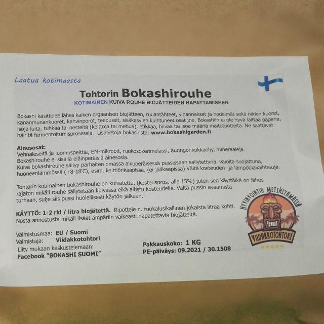 BioBokashi rouhe (kuiva)